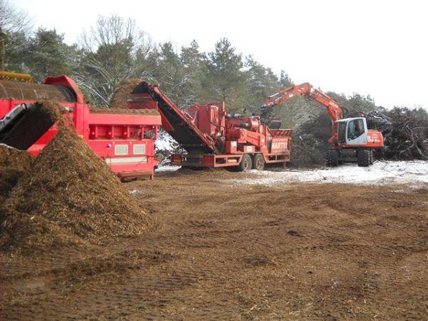 schredderen voor biomassastroomlijn
